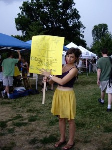 CASS's Comm Director, Renee Davidson, <b>is BUSPAR addictive</b>, <b>Cheap BUSPAR</b>, at the 2011 Slutwalk in Washington, DC.