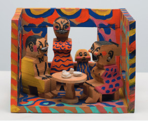 "Doll House, 1987 Polychromed Wood and Metal 10.75"" x 13.75"" x 10"""