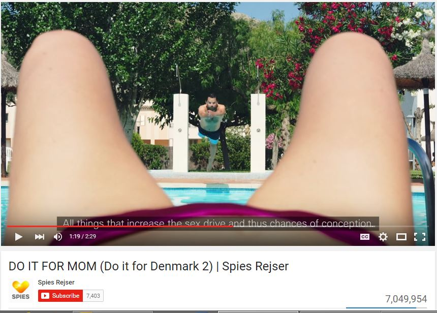 "Screenshot from Youtube of the ""Do It for Mum"" Spies advertisement."